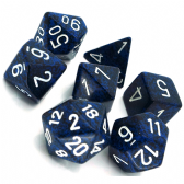 Blue & Black 'Stealth' Speckled Polyhedral 7 Dice Set